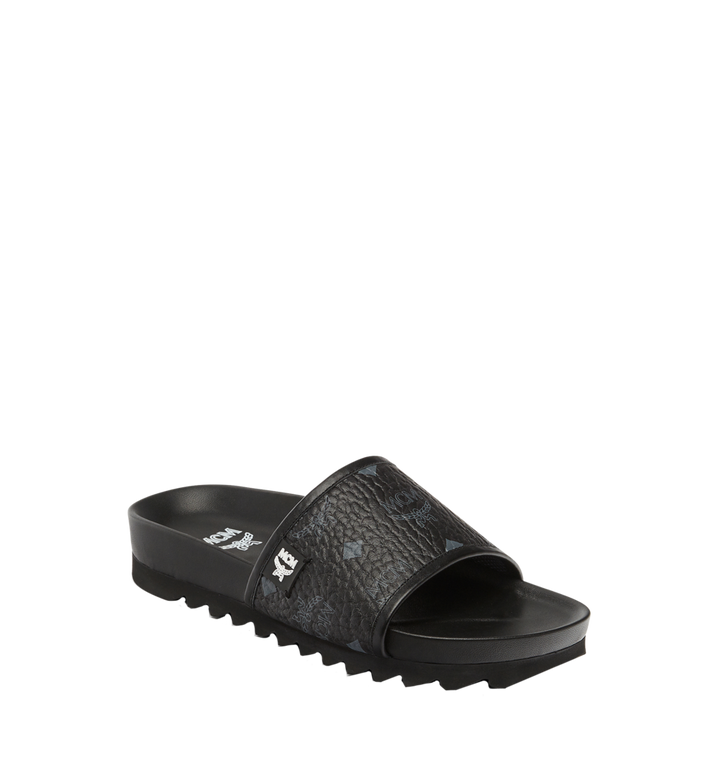MCM Women's Visetos Slides MES7S2K05BK037 AlternateView