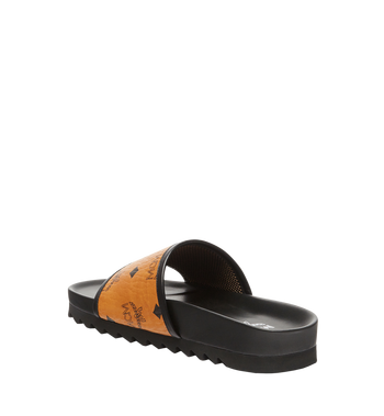 MCM Women's Slides in Visetos MES7S2K05CO035 AlternateView2