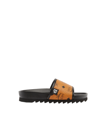 MCM Women's Slides in Visetos MES7S2K05CO035 AlternateView3