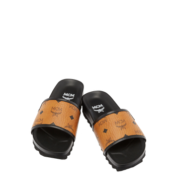 MCM Women's Slides in Visetos MES7S2K05CO035 AlternateView4