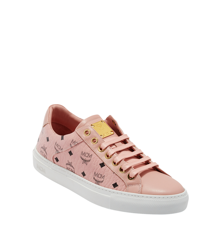 MCM Women's Low Top Classic Sneakers in Visetos MES8SMM03PZ038 AlternateView