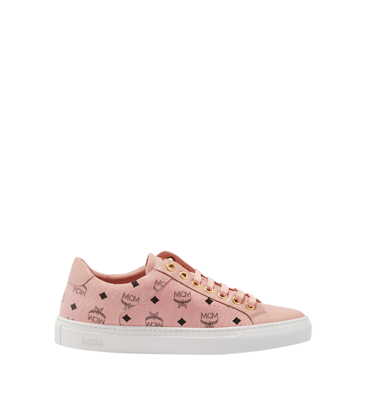 MCM Women's Low Top Classic Sneakers in Visetos MES8SMM03PZ038 AlternateView3