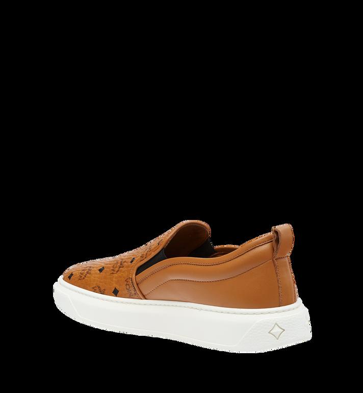 MCM Women's Slip On Diamond Sole Sneakers in Visetos MES8SMM22CO037 AlternateView2