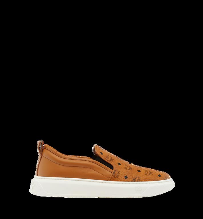 MCM Women's Slip On Diamond Sole Sneakers in Visetos MES8SMM22CO037 AlternateView3