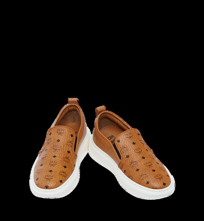 MCM Women's Slip On Diamond Sole Sneakers in Visetos MES8SMM22CO037 AlternateView4
