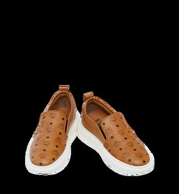 MCM Visetos Damenpantoletten Sneaker mit Diamantsohlen in Visetos MES8SMM22CO038 AlternateView4