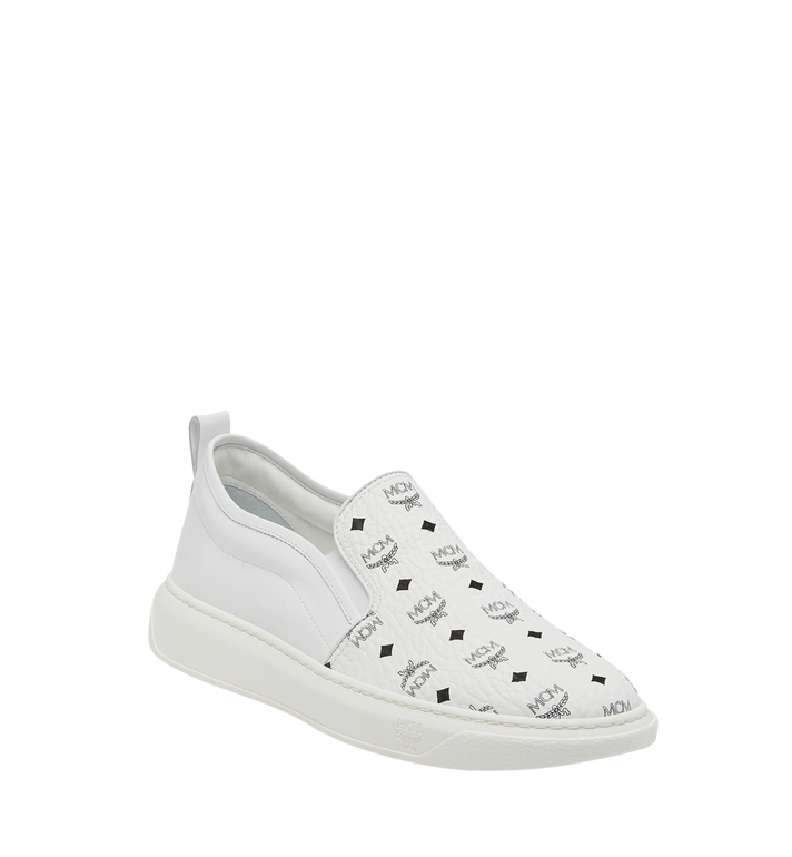 MCM Visetos Damenpantoletten Sneaker mit Diamantsohlen in Visetos MES8SMM22WT038 AlternateView