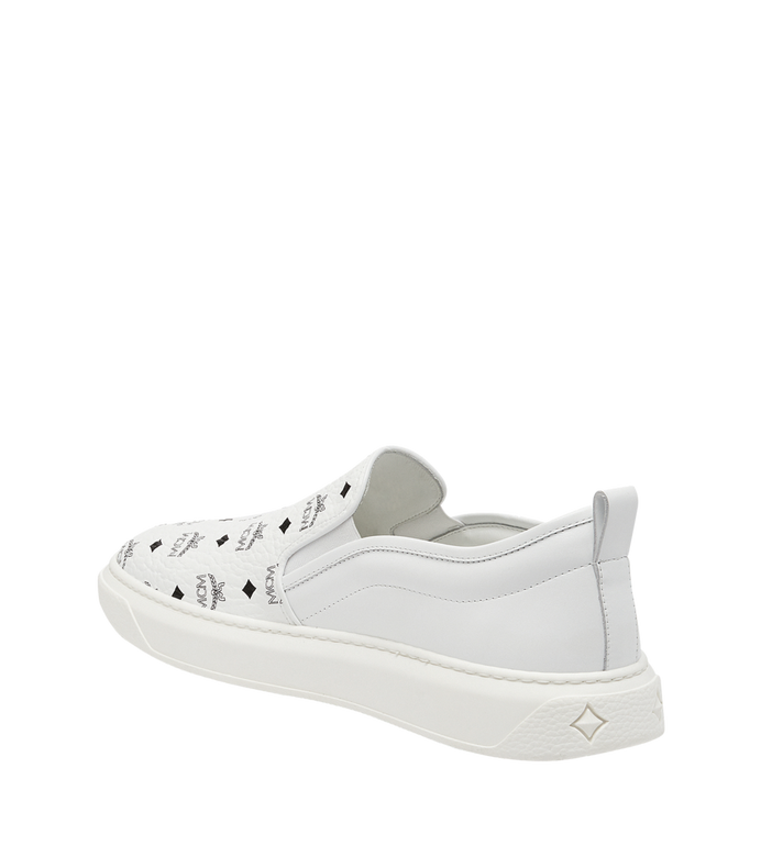 MCM Visetos Damenpantoletten Sneaker mit Diamantsohlen in Visetos MES8SMM22WT038 AlternateView2