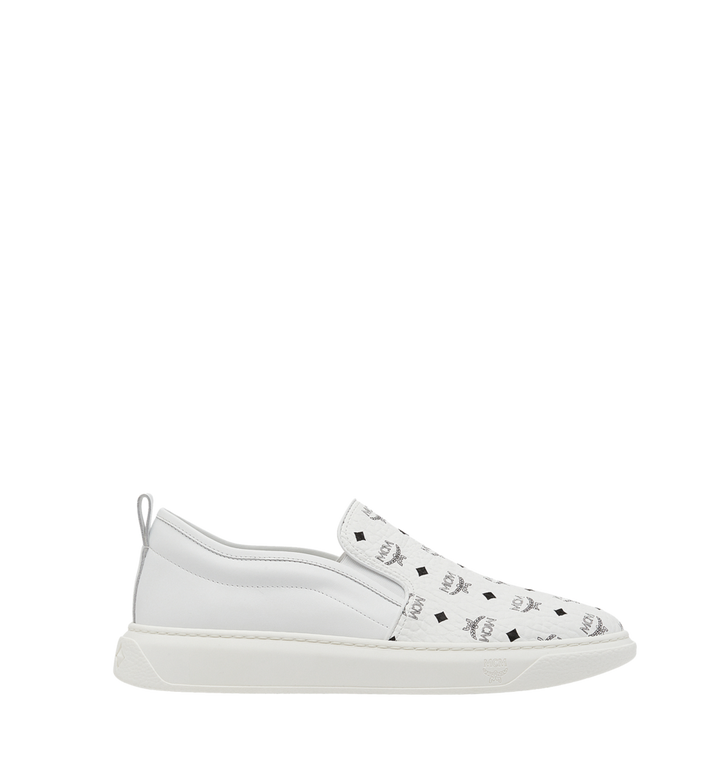 MCM Visetos Damenpantoletten Sneaker mit Diamantsohlen in Visetos MES8SMM22WT040 AlternateView3