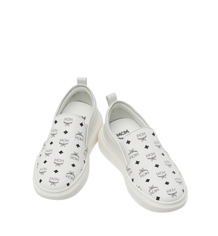 MCM Visetos Damenpantoletten Sneaker mit Diamantsohlen in Visetos MES8SMM22WT040 AlternateView4