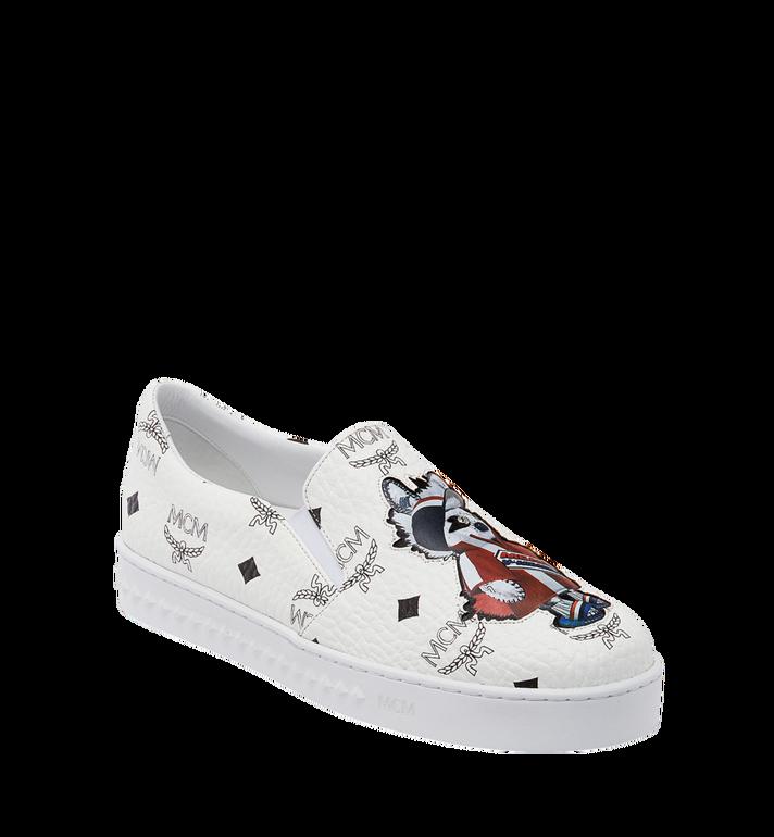 MCM Women's Slip On Sneakers in Rabbit Visetos MES8SMM26WT037 AlternateView