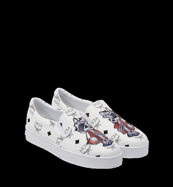 MCM Women's Slip On Sneakers in Rabbit Visetos MES8SMM26WT037 AlternateView2