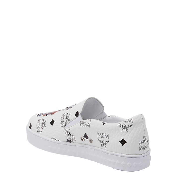 MCM Women's Slip On Sneakers in Rabbit Visetos MES8SMM26WT037 AlternateView3
