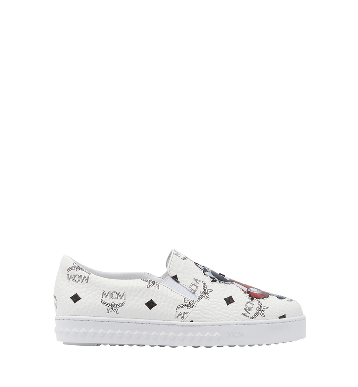 MCM Women's Slip On Sneakers in Rabbit Visetos MES8SMM26WT037 AlternateView4