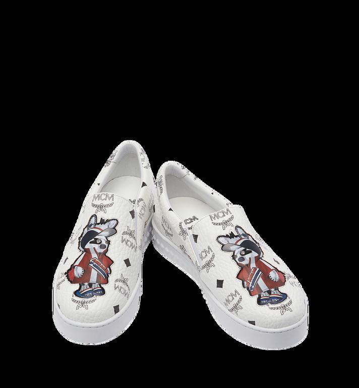 MCM Women's Slip On Sneakers in Rabbit Visetos MES8SMM26WT037 AlternateView5