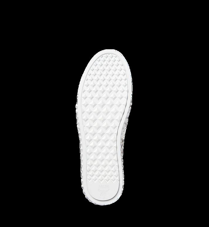 MCM Women's Slip On Sneakers in Rabbit Visetos MES8SMM26WT037 AlternateView6