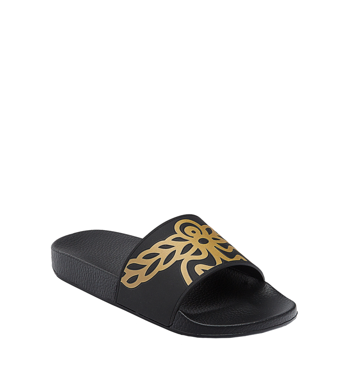 MCM Men's Rubber Slides MEX7AMM01BK041 AlternateView