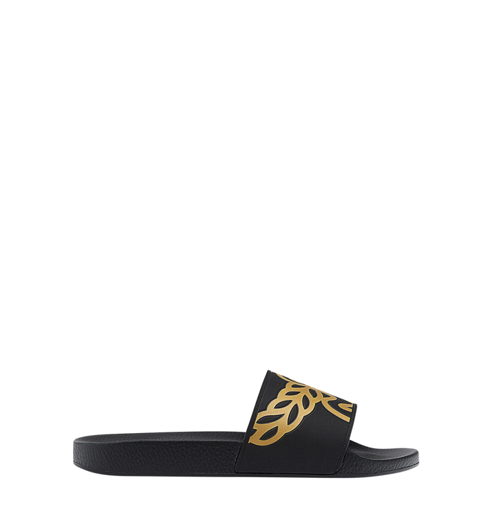 MCM Men's Rubber Slides MEX7AMM01BK041 AlternateView2