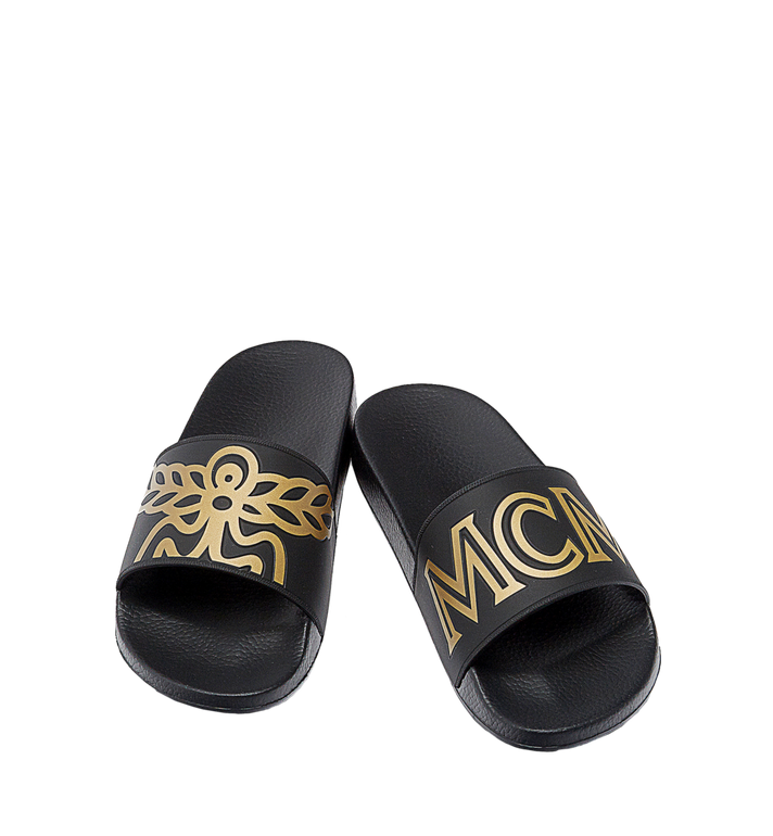 MCM Men's Rubber Slides MEX7AMM01BK041 AlternateView4