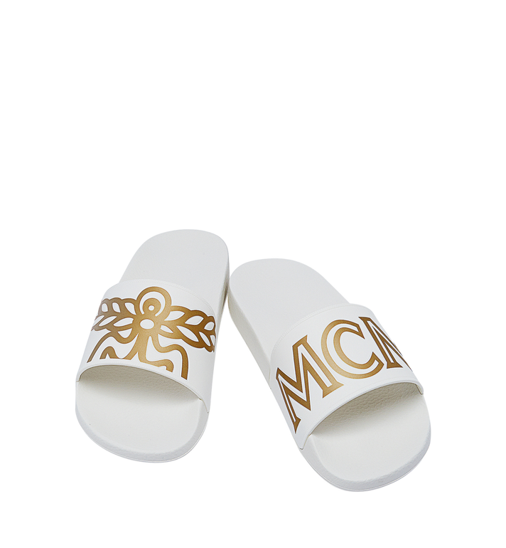 MCM Men's Rubber Slides MEX7AMM01WT043 AlternateView4