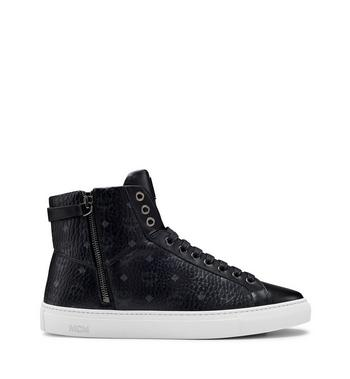 MCM Men's High Top Turnlock Sneakers in Visetos MEX7AMM02BK041 AlternateView3