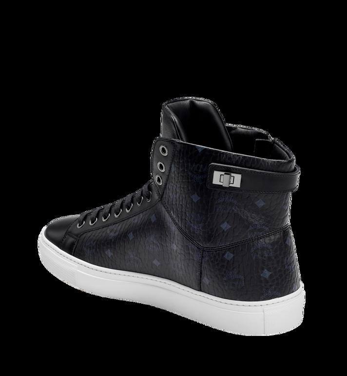 MCM Men's High Top Turnlock Sneakers in Visetos MEX7AMM02BK042 AlternateView2