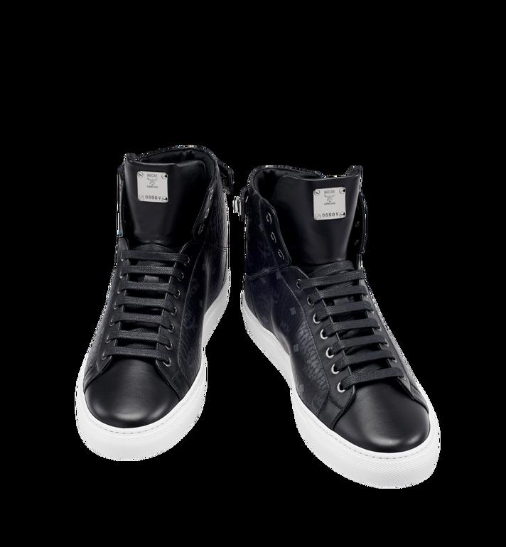 MCM Men's High Top Turnlock Sneakers in Visetos MEX7AMM02BK043 AlternateView4