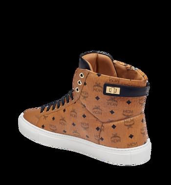 MCM Men's High Top Turnlock Sneakers in Visetos MEX7AMM02CO043 AlternateView2