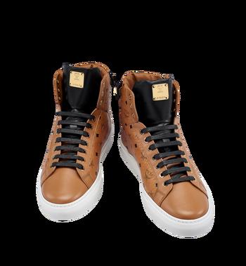 MCM Men's High Top Turnlock Sneakers in Visetos MEX7AMM02CO043 AlternateView4