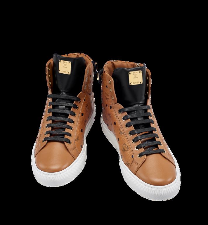 MCM Men's High Top Turnlock Sneakers in Visetos MEX7AMM02CO046 AlternateView4