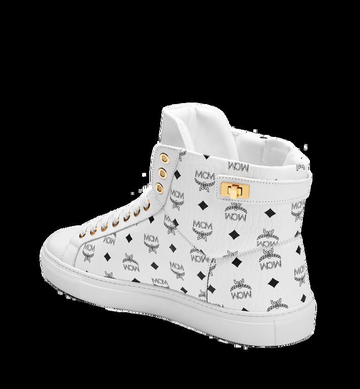 MCM Men's High Top Turnlock Sneakers in Visetos MEX7AMM02WT041 AlternateView2