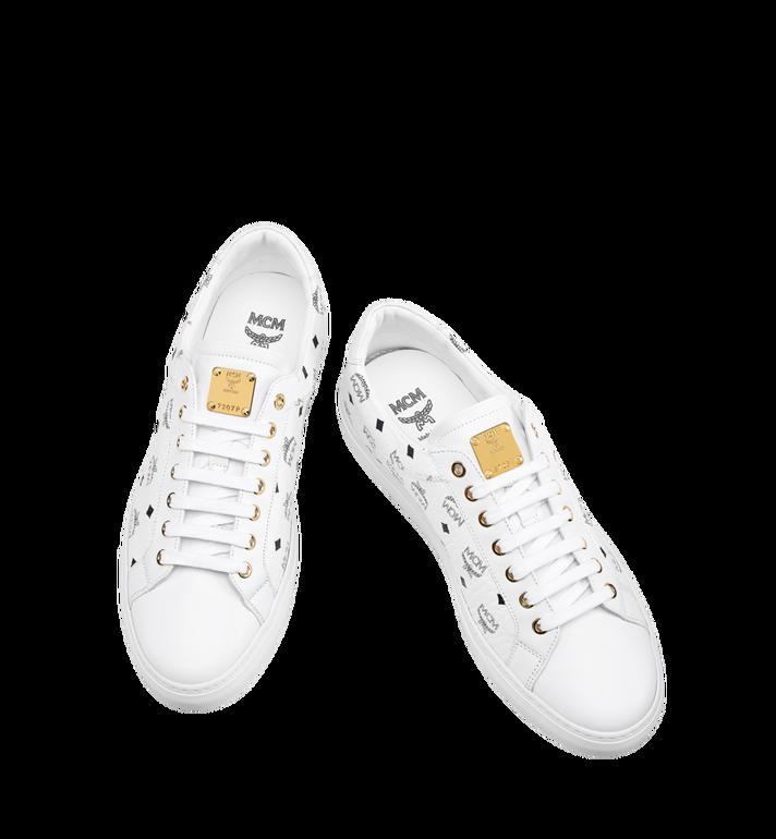 MCM Men's Low Top Classic Sneakers in Visetos MEX7AMM04WT044 AlternateView4