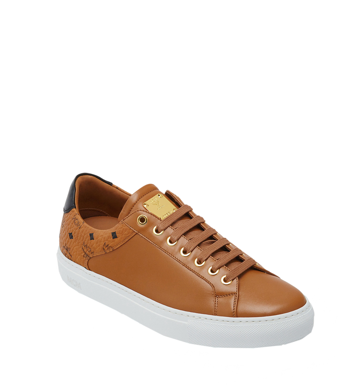 MCM Men's Low Top Classic Sneakers in Leather MEX7S2I03CO045 AlternateView