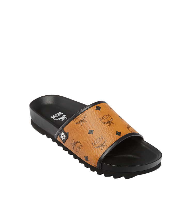 MCM Men's Visetos Slides MEX7S2K05CO041 AlternateView1