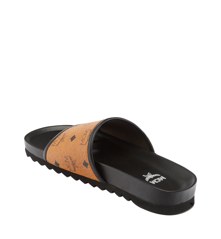 MCM Men's Visetos Slides MEX7S2K05CO041 AlternateView2