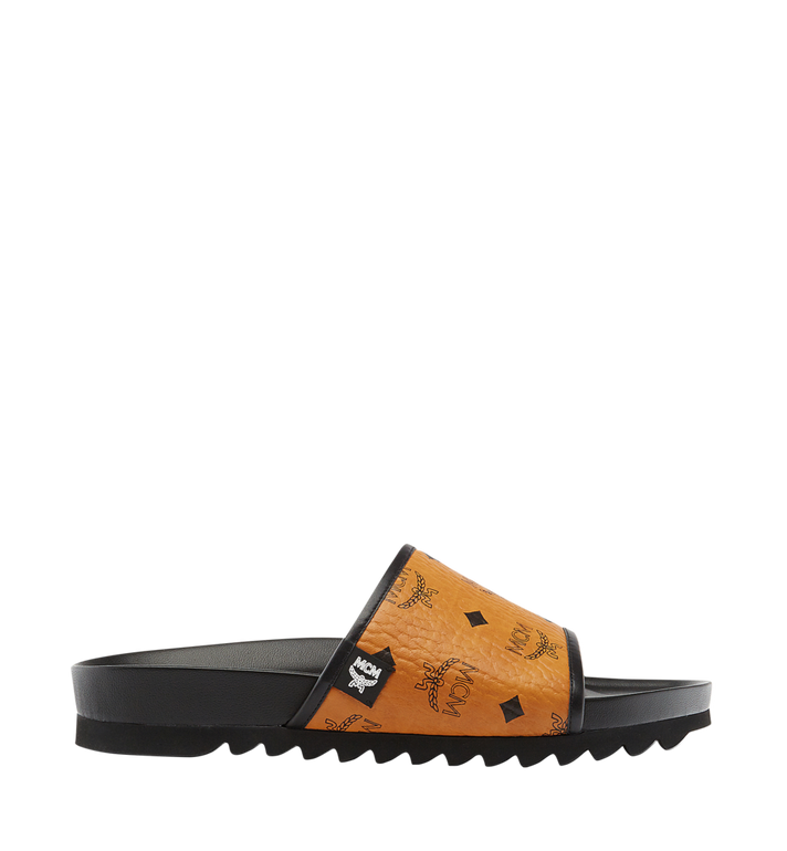 MCM Men's Visetos Slides MEX7S2K05CO041 AlternateView3