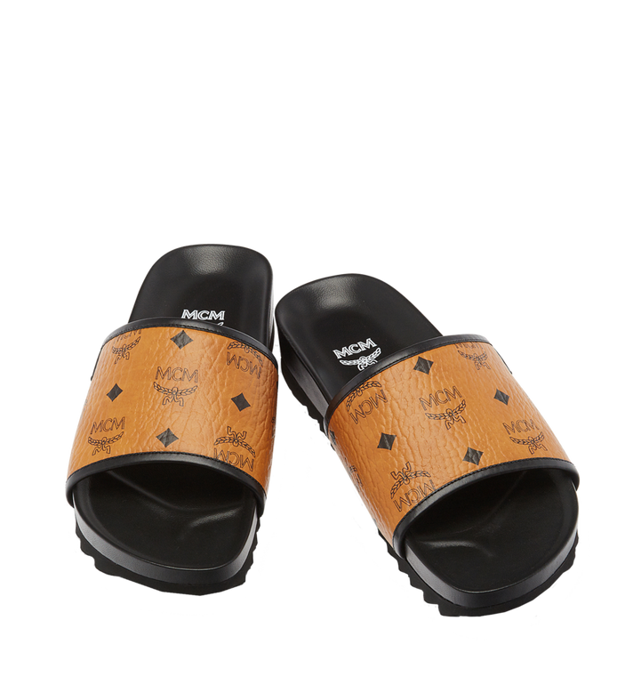 MCM Men's Visetos Slides MEX7S2K05CO041 AlternateView4