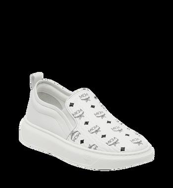 MCM Men's Slip On Sneakers in Visetos MEX8SMM22WT041 AlternateView