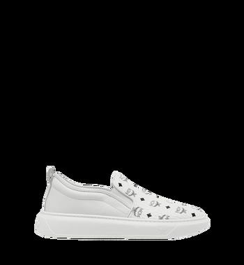 MCM Men's Slip On Sneakers in Visetos MEX8SMM22WT041 AlternateView2