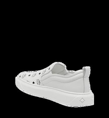 MCM Men's Slip On Sneakers in Visetos MEX8SMM22WT041 AlternateView3