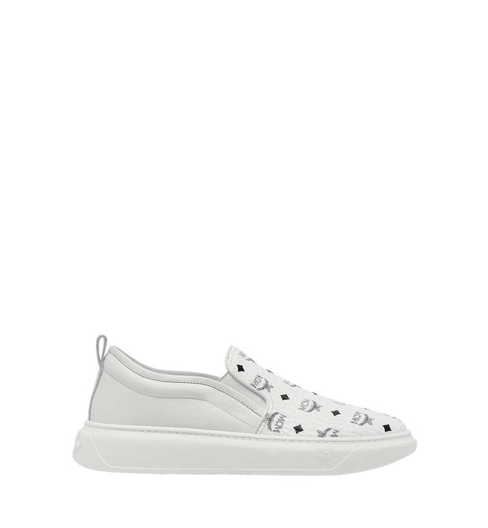 MCM Men's Slip On Sneakers in Visetos MEX8SMM22WT043 AlternateView2