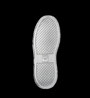 MCM Men's High Top Victory Patch Sneakers in Visetos MEX8SMM30BK041 AlternateView5