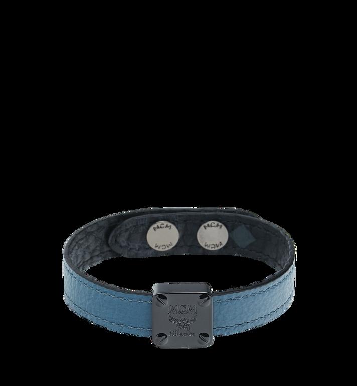 MCM Reversible Logo Plate Bracelet in Visetos MEZ8AMM03HF001 AlternateView2