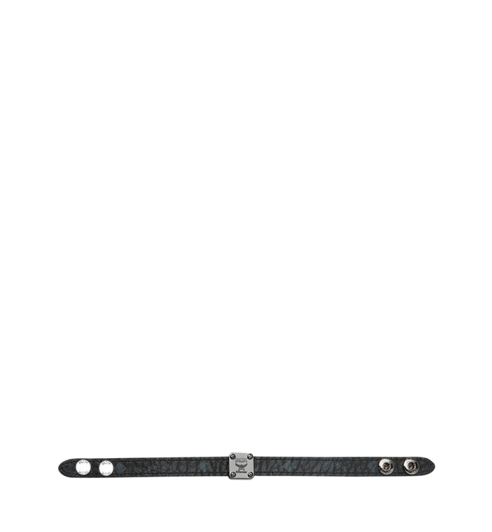MCM Reversible Logo Plate Bracelet in Visetos MEZ8AMM03HF001 AlternateView3
