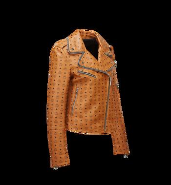 MCM Damen-Bikerjacke aus Leder mit Visetos-Aufdruck MFJ8SMM63CO00M AlternateView2