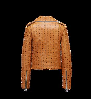 MCM Damen-Bikerjacke aus Leder mit Visetos-Aufdruck MFJ8SMM63CO00M AlternateView3