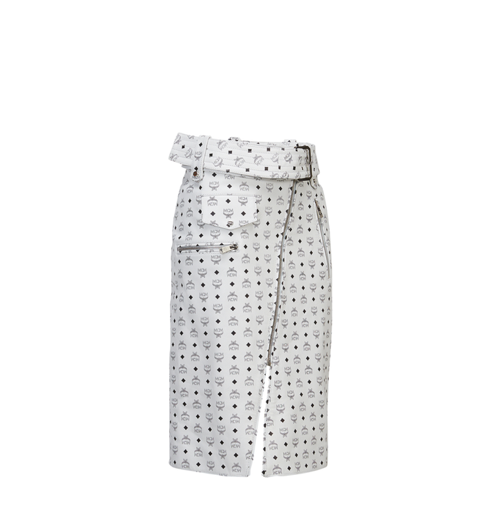 MCM Women's Leather Skirt MFK8SMM64WI00S AlternateView2