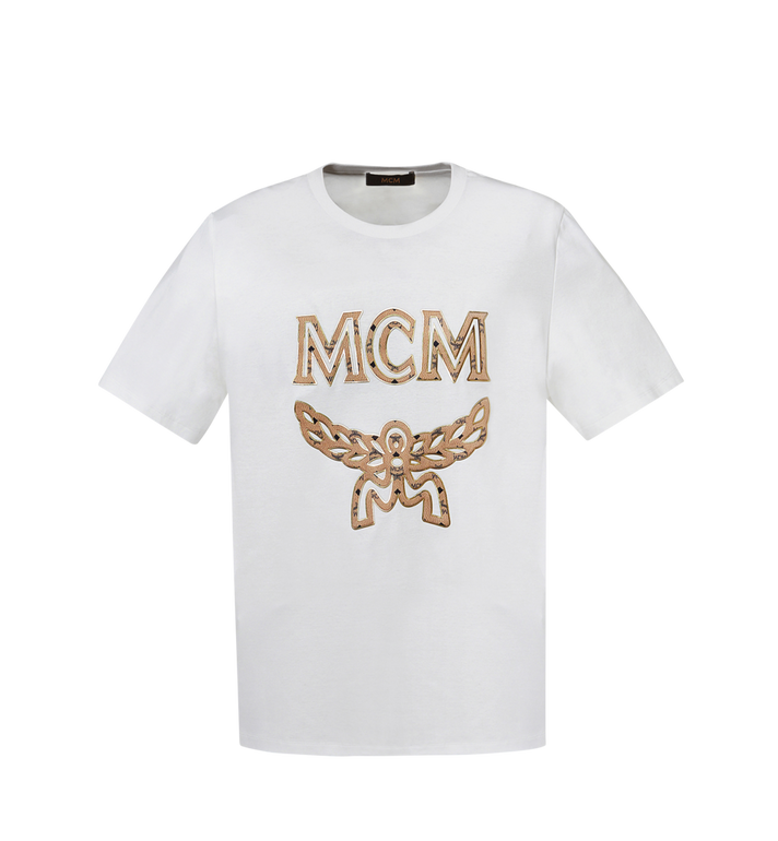 MCM Klassisches Damen T-Shirt mit Logo MFT8SMM11WI00L AlternateView
