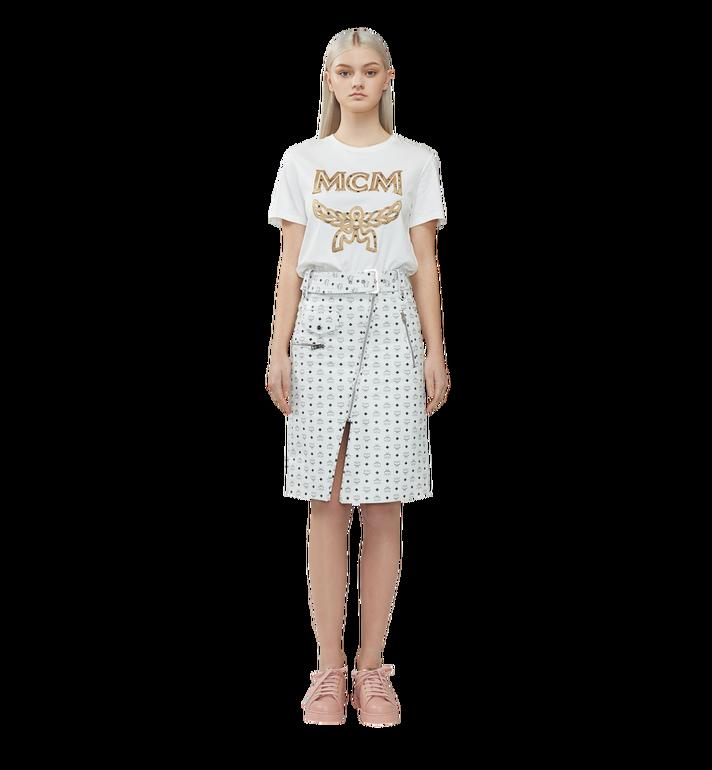 MCM Klassisches Damen T-Shirt mit Logo MFT8SMM11WI00L AlternateView4
