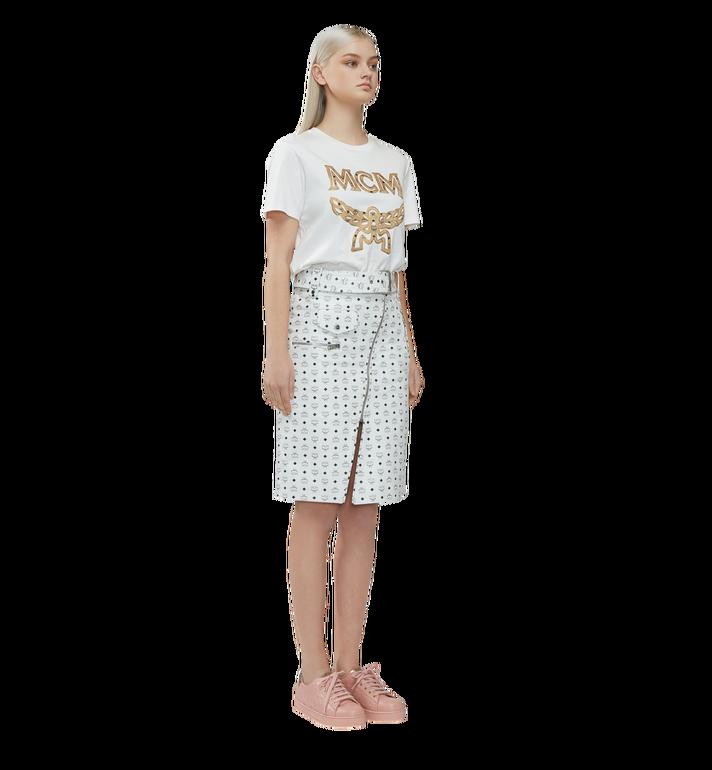 MCM Klassisches Damen T-Shirt mit Logo MFT8SMM11WI00L AlternateView5